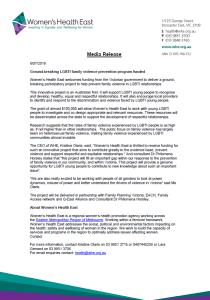 LGBTI FUnding Media Release
